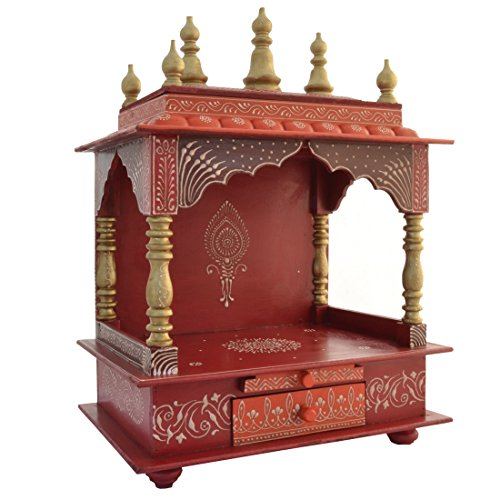 Wooden Temple Home Temple Pooja Mandir Pooja Mandap With Light Available At Amazon For