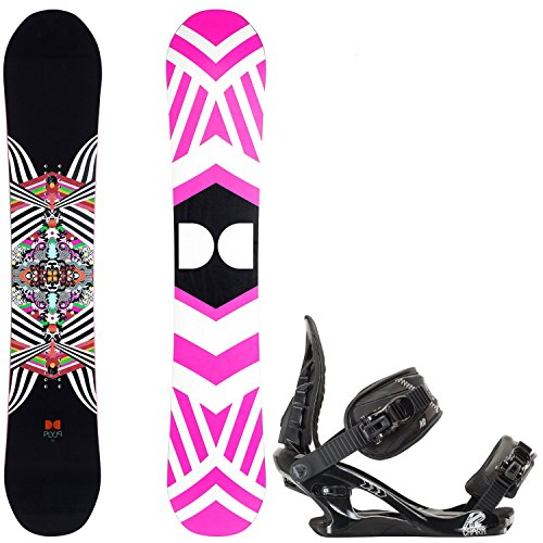 DC Ply 146cm Womens Snowboard + K2 Charm Bindings - Fits US Wms Boots Sizes: 6,7,8,9 (Snowboard Package 146 compare prices)