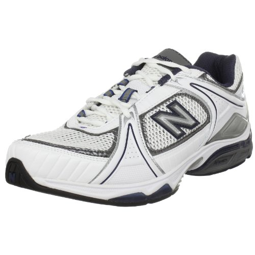 New Balance Men's Mx1011 Training Fitness Shoe,White/Navy,9 2E US