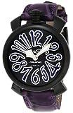 [ガガミラノ]GaGa MILANO 腕時計 マニュアーレ40mm ブラック文字盤 ステンレス/ステンレス(BKPVD)ケース カーフ革ベルト 5022.2-PUR  【並行輸入品】