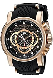 Invicta Men's 19332SYB S1 Rally Analog Display Quartz Black Watch