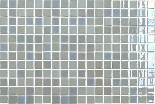 18 x 12 In. Lace Glass Blue Mosaic Tile Kitchen, Bathroom Backsplash Tiling