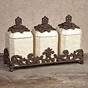 Amazon.com: GG Collection Gracious Goods 3 Piece Ceramic Canister ...