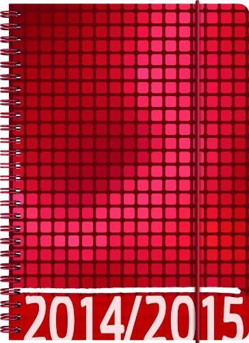 Brunnen Schülerkalender A5 - 2014/15 VIVENDI rot - 18 Monate Kalender