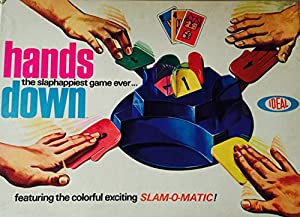 """ORIGINAL VINTAGE 1964 """"HANDS DOWN"""" GAME-IDEAL-TOY-COLLECTIBLE"""