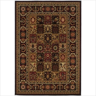 Couristan 8199/2599 ROYAL KASHIMAR Antique Nain 63-Inch by 90-Inch Wool Area Rug, Black