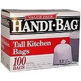 Handi-Bag Handi-Bag Super Value Pack, 13 Gallon,0.6 Milliliters, 23-1/2 x 29, White, 100/Box (HAB6K100)