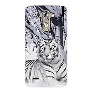 White Tiger Back Case Cover for LG G3