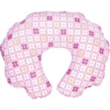 Leachco - Cuddle-U Nursing Pillow Replacement Cover Pink 4 Squares WLM
