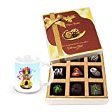 Beautiful Dark Choco Treat With Christmas Mug - Chocholik Luxury Chocolates