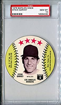 1976 MSA Safelon Sports Discs STEVE GARVEY Rare PSA Gem Mint 10 SP Los Angeles Dodgers / San Diego Padres