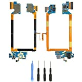 USB Charging Port Headphone Jack Microphone Flex Cable Replacement for LG G2 VS980 Verizon