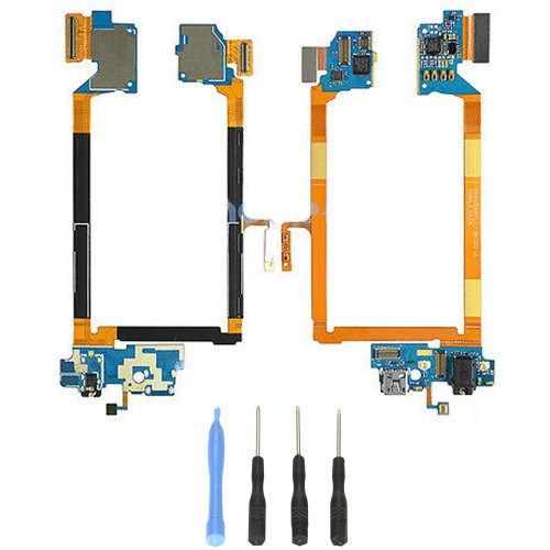 Usb Charging Port , Headphone Jack Microphone Flex Cable Replacement For Lg G2 Vs980 Verizon