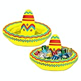 """Pack of 6 Inflatable Mexican Cinco de Mayo Fiesta Party Sombrero Hat Coolers 18"""""""