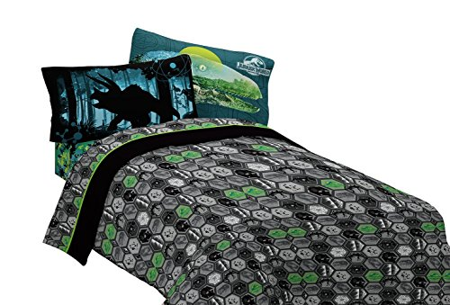 Universal Jurassic World Biggest Growl Microfiber Sheet Set, Full (Full Bedding Sheets compare prices)
