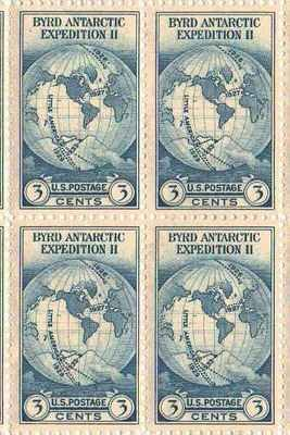 Bard Antarctic Expedition II Set of 4 x 3 Cent US Postage Stamps NEW Scot 733