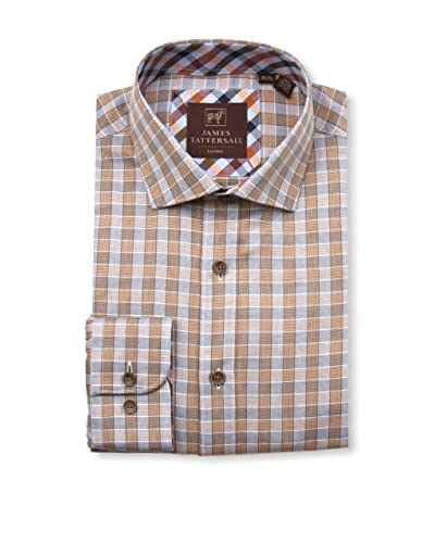 James Tattersall Men's Spread Collar Sportshirt