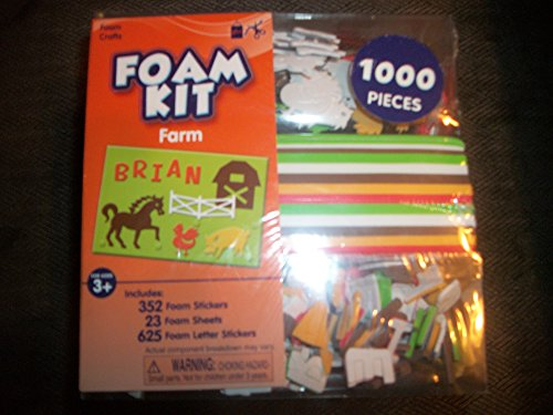 Foam Craft Foam Kit 1000 Pieces Farm Theme