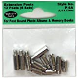 Pioneer P6A Extra Variety Pack 5, 8, 12mm Extension Posts (6 sets) f/all Post Bound albums