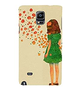 EPICCASE Windy Girl Mobile Back Case Cover For Samsung Galaxy Note 4 (Designer Case)