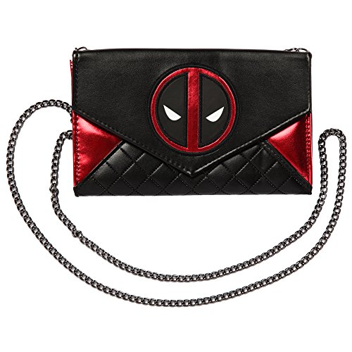 Deadpool Quilted Wallet Purse With Chain