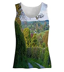 Snoogg Abstract Garden Way Womens Tunic Casual Beach Fitness Vests Tank Tops Sleeveless T shirts