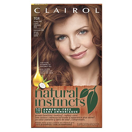 Clairol Natural Instincts, 7GR / 15RG  Golden Sienna Light Golden Red, Semi-Permanent Hair Color, 1 Kit (Golden Red Hair Dye compare prices)