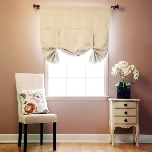 Best home fashion thermal insulated blackout tie up window for Best blackout window treatments