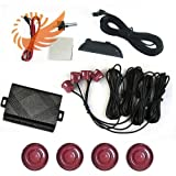 51DVrNA3huL. SL160  Car LED Display 4 Parking Sensor Reverse backup Radar Sound Alarm System Rotation orange