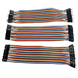 Kalevel® 120pcs Multicolored 40pin Male to Female, 40pin Male to Male, 40pin Female to Female Breadboard Jumper Wires Ribbon Cables Kit