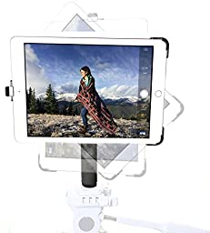 G8 Pro iPad Mini 1 2 3 Tripod Mount + 8 inch Solid Metal Tripod Adapter Pole with 360° Locking Swivel Ball Head Accessory Bundle Kit - Attaches to any 1/4-20 Thread Tripod You Already Use - Simply Snap in iPad and Mount to Tripod