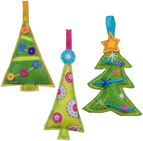 Dimensions Needlecrafts Felt Applique, Cheery Trees Ornaments