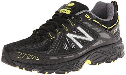 New Balance Men'S Mt510V2 Trail Shoe, Black/Silver, 12 2E Us