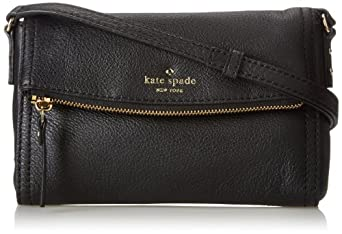 kate spade new york Cobble Hill Mini Carson Cross Body Handbag,Black,One Size