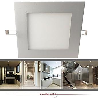 deckenleuchte einbaustrahler einbauleuchte led panel catro extra flach 17w smd led 12v 230v. Black Bedroom Furniture Sets. Home Design Ideas