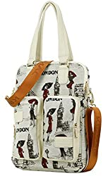 Kinmac London Lady Vertical Style Laptop Shoulder Bag for 11 Inch 12 Inch 13 Inch Laptop and Macbook Air 11 Macbook 12 Macbook Air 13 Macbook Pro 13 Case Bag