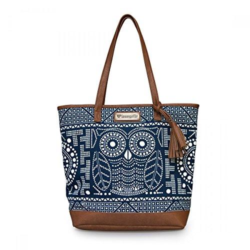 loungefly-damen-shopper-tasche-handtasche-eule-dotted-owl-tote-bag-schultertasche-canvas-und-kunstle