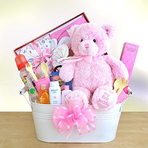 Just Arrived Baby Girl Gift Basket front-21313