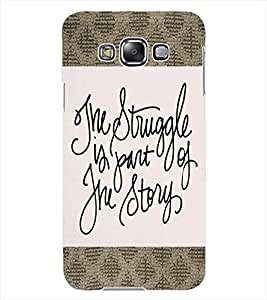 ColourCraft Inspirational Quote Design Back Case Cover for SAMSUNG GALAXY GRAND 3