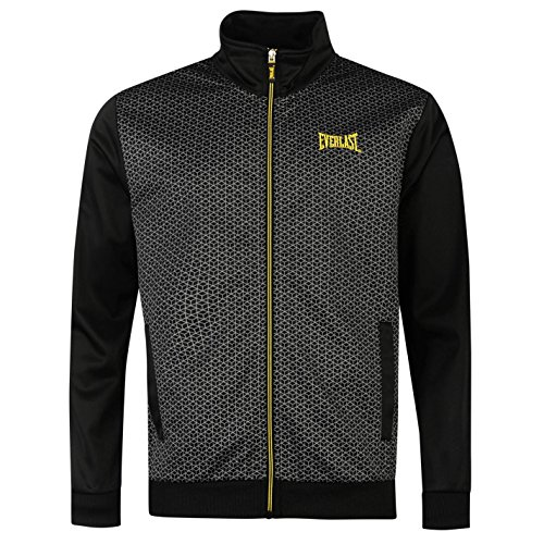 Everlast da uomo Classic Training Giacca Alto Collo Sport allenamento corsa Full Zip Top nero/giallo X-Large