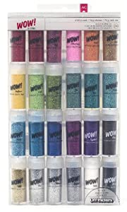 American Crafts 24-Pack WOW Extra Fine Glitter