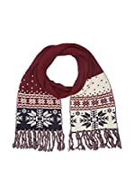 Hackett London Bufanda Lana Snow Flake Knit (Vino)