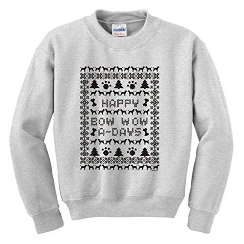 Ugly Christmas Sweater Labrador Retriever Youth Crewneck Sweatshirt Medium Ash