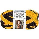 Coats Yarn Red Heart Boutique Sashay Team Spirit Yarn, Gold/Black