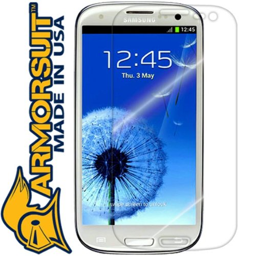 ArmorSuit MilitaryShield - Samsung Galaxy S3 Screen Protector Shield + Lifetime Replacements (AT&T, Verizon, T-Mobile, Sprint, U.S. Cellular)
