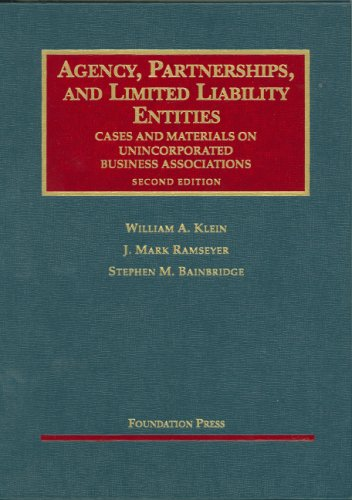 Agency, Partnerships, And Limited Liability Entities:...