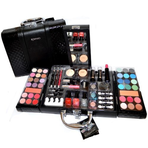 BEAUTY CASE VALIGETTA NERA TROUSSE TRUCCO PALETTE OMBRETTI MAKE UP PROFESSIONAL