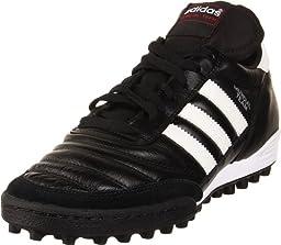 adidas Performance Mundial Team Turf Soccer Cleat,Black/White,10 M US
