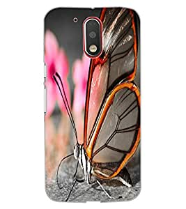 ColourCraft Beautiful Butterfly Design Back Case Cover for MOTOROLA MOTO G4 PLUS