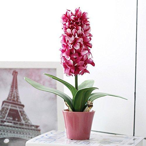 mkono-artificialfaux-fleur-soie-jacinthe-dplante-en-pot-en-pot-en-ceramique-blanc-red